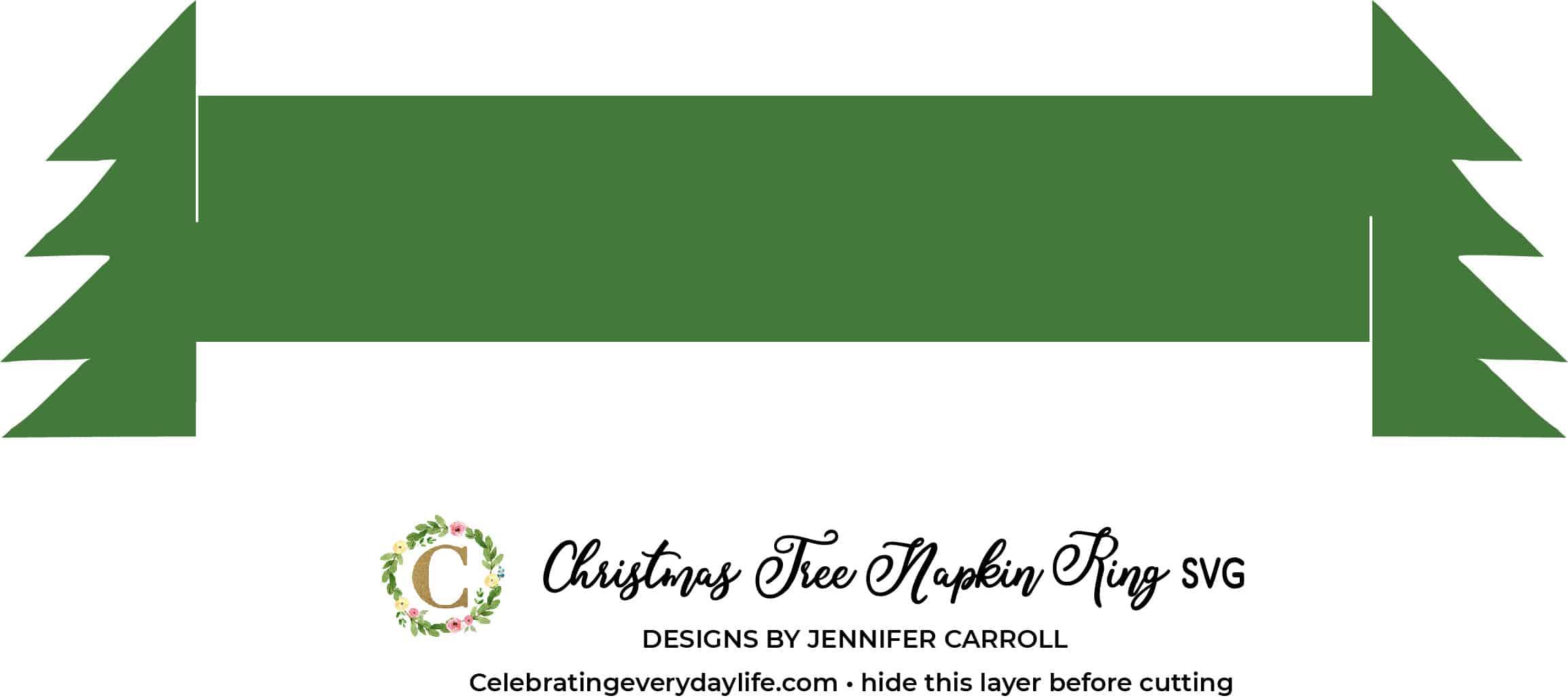 Easy Cricut Christmas Tree Napkin Ring